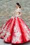 Robe de bal Rosée épaule Manche Courte Laçage À la masse Étoilé - Page 4