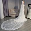 Mariée mariage voile dentelle traînant voile cathédrale luxe voile