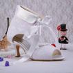Bottes pour femmes rouges chaussures de mariage talons aiguilles en dentelle