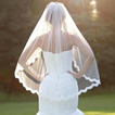 Voile de mariage de voile de dentelle de cils monocouche avec voile court de dentelle de peigne