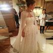 Mousseline longue veste de mariage élégante simple châle 2 mètres de long