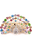 Retro Peacock incrusté diamant Broche en alliage animal