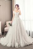 Robe de mariée Tulle Elégant Mancheron A-ligne Lacez vers le haut