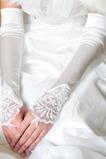 Gants de mariage Appliquer Luxueux Approprié Froid Ivoire Cérémonie