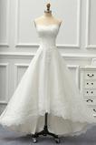 Robe de mariée Bouton Couvert de Dentelle De plein air Asymétrique