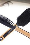 Poignée en bois Creative Poignée Noir Gros Massage Petit Miroir & Peigne