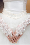 Gants de mariage Décalcomanie Tulle Ivoire Poétique Mince Cérémonie