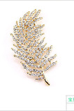 All-match arbre feuille alliage gros bijoux broche
