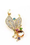 Femmes en gros incrusté de diamants Nouveau style Crystal Pin Broche