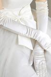 Gants de mariage Longue Hiver Romantique Épais Doigt entier Ruché