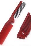 Grain de bois rouge multifonction portable petit miroir et peigne