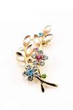 Diamant incrusté Vente chaude Femme Accessoires Broche Feuille de Cristal
