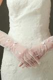 Gants de mariage Doigt entier Ombre Sexy Translucide Tulle Longue