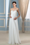 Robe de mariée Simple Fourreau plissé col coeur Dos nu Drapé