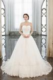Robe de mariée A-ligne Longue Couvert de Dentelle Froid Naturel taille