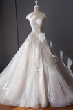 Robe de mariée Manche Courte Salle Tulle Mancheron Longue Trou De Serrure