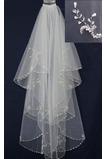 Voile de mariée Tulle Robe de Mariée Déesse Chic Court Perler