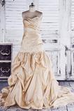 Robe de mariée Sans courroies Pompeux Perle rose Fermeture éclair