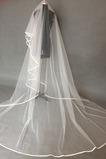 Voile de mariée Longue Epurée Froid Traîne Longue net blanc