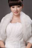 Châle de mariage Imitation Fur Plumes Hiver Salle multifonctionnel