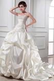 Robe de mariée Drapé Sans Manches Satin Naturel taille aligne
