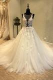 Robe de mariée A-ligne Naturel taille De plein air Gazer Longue