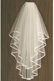Voile de mariée net Ivoire Longue Avec le peigne Printemps Mariage