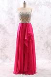 Robe de bal Corsage Avec Bijoux Mousseline Naturel taille Froid