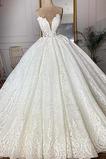 Robe de mariée Sans courroies Sans Manches Glissière Luxueux