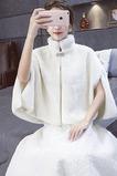 Automne et hiver veste chaude manteau de mariée châle imitation fourrure châle