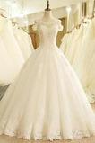 Robe de mariée Princesse Formelle Décalcomanie Laçage Tulle Col U Profond