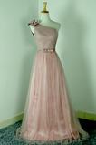 Robe de demoiselle d'honneur Rose Sans Manches Mariage Chic Nœud à Boucles
