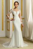 Robe de mariée Sans Manches Manquant Printemps Elégant Traîne Moyenne