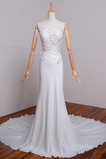 Robe de mariée Sans Manches Naturel taille Petit collier circulaire