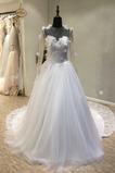 Robe de mariée Manche Longue Traîne Longue Sommaire aligne Tulle