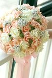 30 bouquets de demoiselles d'honneur mariages de mariage fleurs de simulation de rose de couleur champagne