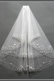 Voile de mariée net Ivoire Mariage Pittoresque Perler Avec le peigne