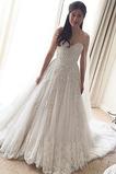 Robe de mariée A-ligne Dos nu Longue Sans Manches Formelle Naturel taille