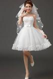 Robe de mariée Sans bretelles Sans Ceinture Glamour Sans Manches