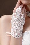 Gants de mariage blanc Mariage Perle Été Scintillait Mitaine