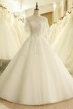 Robe de mariée Manquant Formelle 3/4 Manche Appliquer Traîne Longue