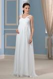 Robe de mariée Epurée taille haute Plus la taille Ruché Fermeture à glissière