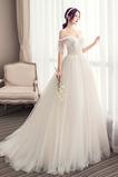 Robe de mariée Drapé Longue Tulle Sommaire Manquant a ligne Jardin