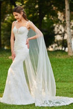 Robe de mariée Sexy Près du corps De plein air Gaze Train de balayage