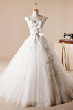 Robe de mariée Sans Manches Naturel taille Princesse net Glissière