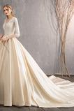 Robe de mariage Elégant Laçage Satin Manche de T-shirt Salle des fêtes