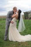Voile de mariée Court net Ivoire Mariage Longue Printemps Avec le peigne