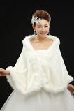 Châle de mariage Sans Manches Chaud blanc Hiver Romantique Épais