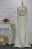Robe de soirée Longueur de plancher Automne Perles a ligne Naturel taille