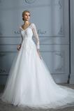 Robe de mariée Dos nu Salle gossamer Dentelle Formelle A-ligne